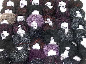 Eyelash Blends This mixed lot includes a total of 2000 gr (70.5 oz.) yarn. There is no standard for ball weight. Also disregard any information on the labels. You will get what you see in the photo. Brand ICE, fnt2-62060