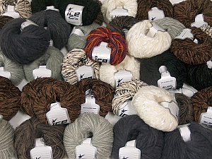 Custom Blends This mixed lot includes a total of 2000 gr (70.5 oz.) yarn. There is no standard for ball weight. Also disregard any information on the labels. You will get what you see in the photo. Brand ICE, fnt2-62061