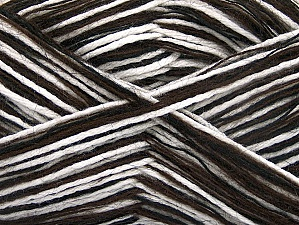 Fiber Content 60% Acrylic, 40% Wool, White, Brand ICE, Brown, Black, fnt2-62075