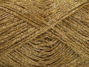 Fiber Content 75% Viscose, 25% Metallic Lurex, Brand ICE, Dark Gold, fnt2-62236