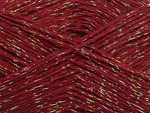 Fiber Content 75% Viscose, 25% Metallic Lurex, Irridescent, Brand ICE, Burgundy, fnt2-62241