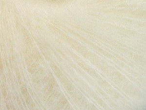 Knitted as 4 ply Fiber Content 40% Polyamide, 30% Acrylic, 30% Kid Mohair, Brand ICE, Cream, fnt2-62280