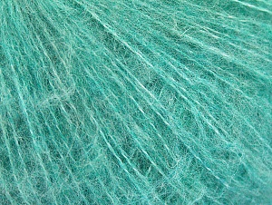 Knitted as 4 ply Fiber Content 40% Polyamide, 30% Kid Mohair, 30% Acrylic, Brand ICE, Emerald Green, fnt2-62287