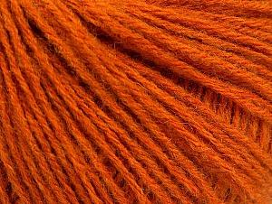 Fiber Content 60% Acrylic, 40% Wool, Orange, Brand ICE, fnt2-62298