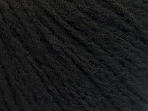 Fiber Content 50% Wool, 50% Acrylic, Brand ICE, Black, fnt2-62307