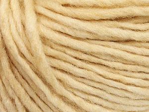 Fiber Content 50% Merino Wool, 25% Acrylic, 25% Alpaca, Brand ICE, Dark Cream, Yarn Thickness 5 Bulky  Chunky, Craft, Rug, fnt2-62344