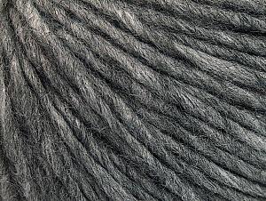 Fiber Content 50% Merino Wool, 25% Acrylic, 25% Alpaca, Brand ICE, Grey, Yarn Thickness 5 Bulky  Chunky, Craft, Rug, fnt2-62346