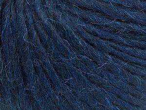 Fiber Content 50% Merino Wool, 25% Acrylic, 25% Alpaca, Brand ICE, Dark Navy, Yarn Thickness 5 Bulky  Chunky, Craft, Rug, fnt2-62350