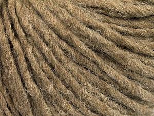 Fiber Content 50% Merino Wool, 25% Acrylic, 25% Alpaca, Brand ICE, Camel, Yarn Thickness 5 Bulky  Chunky, Craft, Rug, fnt2-62357