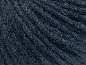 Fiber Content 50% Merino Wool, 25% Acrylic, 25% Alpaca, Brand ICE, Dark Navy, Yarn Thickness 5 Bulky  Chunky, Craft, Rug, fnt2-62361