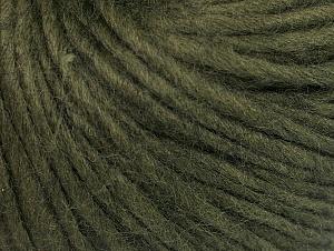 Fiber Content 50% Acrylic, 50% Wool, Khaki, Brand ICE, Yarn Thickness 4 Medium  Worsted, Afghan, Aran, fnt2-62370