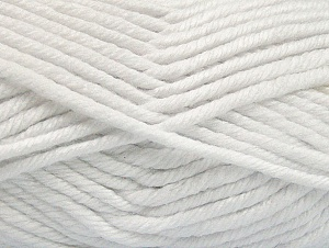Fiber Content 100% Acrylic, White, Brand ICE, Yarn Thickness 6 SuperBulky  Bulky, Roving, fnt2-62371