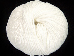 Fiber Content 50% Cotton, 50% Acrylic, White, Brand ICE, fnt2-62376