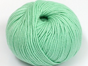 Fiber Content 50% Cotton, 50% Acrylic, Mint Green, Brand ICE, fnt2-62392