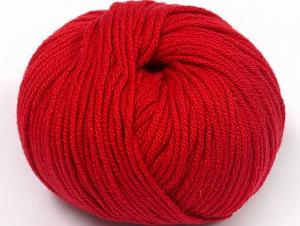 Fiber Content 50% Cotton, 50% Acrylic, Brand ICE, Dark Red, fnt2-62396