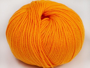 Fiber Content 50% Cotton, 50% Acrylic, Light Orange, Brand ICE, fnt2-62402