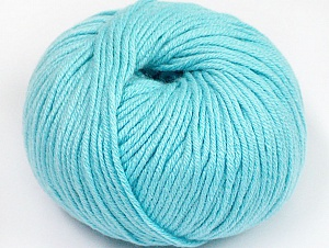 Fiber Content 50% Cotton, 50% Acrylic, Light Turquoise, Brand ICE, fnt2-62429