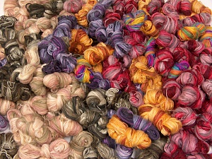 Angora Active Leftover This lot consists of more than 100 hanks of Angora Active yarn. The total weight is 2000 gr (70.5 oz.). Fiber Content 75% Acrylic, 25% Angora, Brand ICE, fnt2-62434