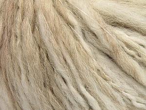 Fiber Content 40% Acrylic, 35% Wool, 25% Alpaca, White, Brand ICE, Beige, fnt2-62492