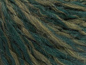 Fiber Content 40% Acrylic, 35% Wool, 25% Alpaca, Brand ICE, Green Shades, fnt2-62495