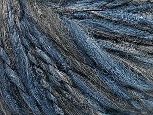 Fiber Content 40% Acrylic, 35% Wool, 25% Alpaca, Brand ICE, Grey Shades, Blue, fnt2-62496