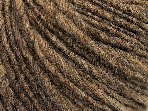 Fiber Content 55% Acrylic, 45% Wool, Brand ICE, Brown Melange, fnt2-62517