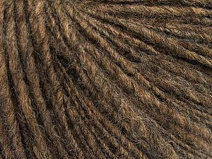 Fiber Content 60% Acrylic, 40% Wool, Brand ICE, Brown Melange, fnt2-62518