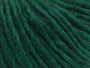 Fiber Content 50% Merino Wool, 25% Acrylic, 25% Alpaca, Brand ICE, Dark Green, fnt2-62521