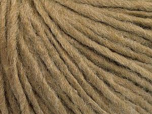 Fiber Content 50% Wool, 50% Acrylic, Light Brown, Brand ICE, Yarn Thickness 4 Medium  Worsted, Afghan, Aran, fnt2-62557