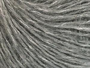 Mohair  Fiber Content 30% Acrylic, 30% Mohair, 20% Wool, 20% Polyamide, White, Brand ICE, Grey, fnt2-62702