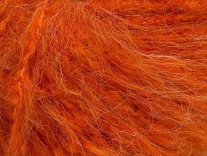 Fiber Content 45% Acrylic, 25% Wool, 20% Mohair, 10% Polyamide, Orange, Brand ICE, fnt2-62832