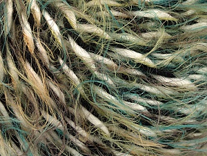 Fiber Content 40% Wool, 30% Acrylic, 30% Polyamide, White, Brand ICE, Green Shades, Black, fnt2-62836