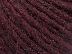 Fiber Content 50% Merino Wool, 25% Alpaca, 25% Acrylic, Maroon, Brand ICE, fnt2-62843