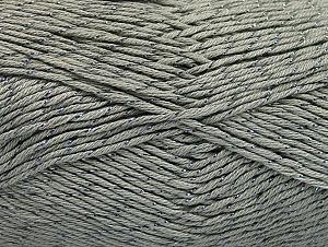 Fiber Content 49% Cotton, 49% Premium Acrylic, 2% Metallic Lurex, Brand ICE, Grey, fnt2-62886