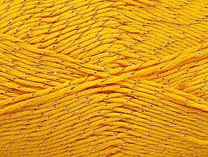 Fiber Content 49% Cotton, 49% Premium Acrylic, 2% Metallic Lurex, Yellow, Brand ICE, fnt2-62888