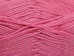 Fiber Content 49% Premium Acrylic, 49% Cotton, 2% Metallic Lurex, Pink, Brand ICE, fnt2-62889