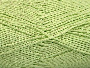 Fiber Content 49% Premium Acrylic, 49% Cotton, 2% Metallic Lurex, Light Green, Brand ICE, fnt2-62893