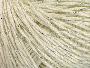 Fiber Content 90% Acrylic, 10% Metallic Lurex, White, Silver, Brand ICE, fnt2-62978
