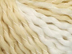 Fiber Content 50% Acrylic, 50% Wool, White, Brand ICE, Cream, fnt2-62981