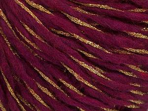 Metallic  Fiber Content 60% Wool, 30% Polyamide, 10% Metallic Lurex, Brand ICE, Gold, Fuchsia, fnt2-62987