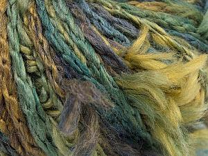 Fiber Content 70% Wool, 5% Polyamide, 25% Acrylic, Brand ICE, Green Shades, Gold, Blue Shades, fnt2-63154