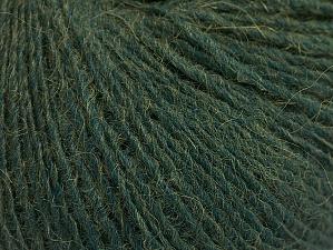Fiber Content 40% Wool, 30% Alpaca, 30% Acrylic, Brand ICE, Dark Green, fnt2-63163