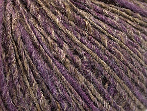 Fiber Content 62% Acrylic, 4% Linen, 18% Wool, 16% Viscose, Lilac, Brand ICE, Camel, fnt2-63170