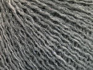 Fiber Content 70% Acrylic, 20% Wool, 10% Metallic Lurex, Silver, Brand ICE, Grey, fnt2-63252