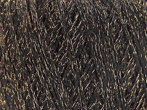 Fiber Content 70% Polyamide, 30% Metallic Lurex, Brand ICE, Gold, Black, fnt2-63284