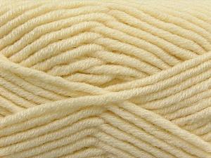 Fiber Content 50% Acrylic, 50% Merino Wool, Brand KUKA, Cream, Yarn Thickness 5 Bulky  Chunky, Craft, Rug, fnt2-16724