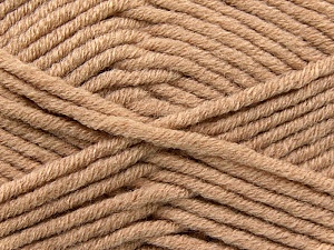 Fiber Content 50% Acrylic, 50% Merino Wool, Light Camel, Brand KUKA, Yarn Thickness 5 Bulky  Chunky, Craft, Rug, fnt2-16728
