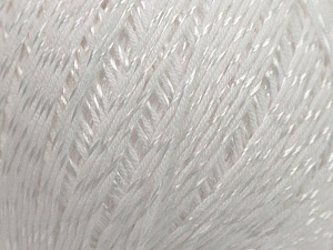 Fiber Content 70% Mercerised Cotton, 30% Viscose, White, Brand KUKA, Yarn Thickness 2 Fine  Sport, Baby, fnt2-16799