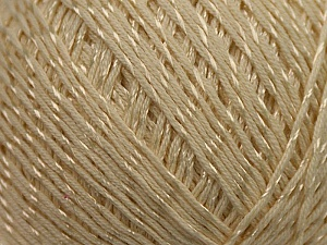 Fiber Content 70% Mercerised Cotton, 30% Viscose, Brand KUKA, Cream, Yarn Thickness 2 Fine  Sport, Baby, fnt2-16803