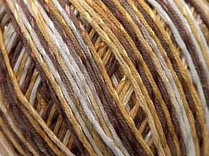 Fiber Content 70% Mercerised Cotton, 30% Viscose, White, Brand KUKA, Camel, Brown, Yarn Thickness 2 Fine  Sport, Baby, fnt2-16812